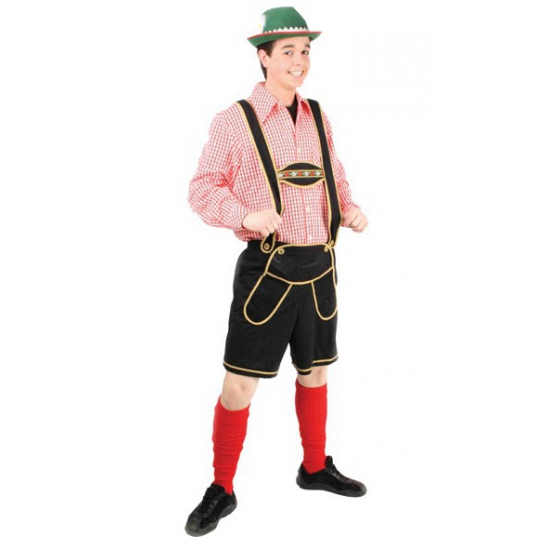 Zwarte tiroler broek voor heren