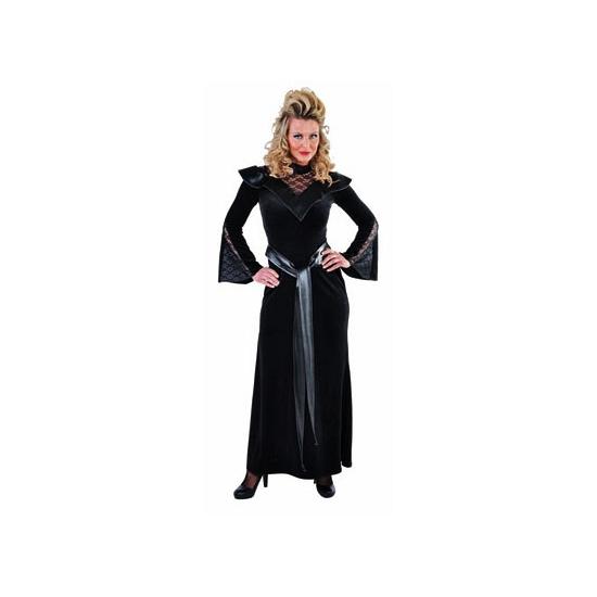 Zwarte vampier jurk voor dames