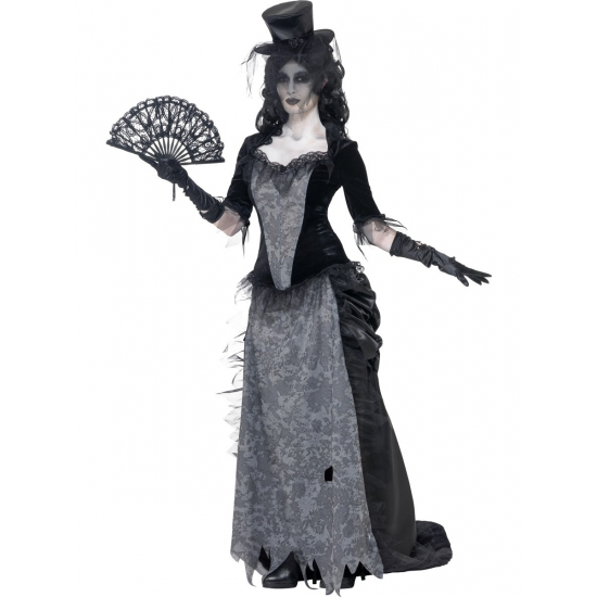 Zwarte weduwe kostuum victoriaans