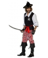 3 delig piraten kostuum voor heren