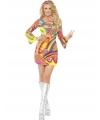 60s power flower dames kostuum