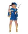 Blauw musketiers jurkje voor dames