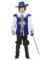 Blauw musketiers kostuum voor kinderen