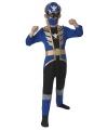 Blauw power ranger kostuum voor kinderen