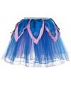 Blauw roze tutu rokje voor meiden