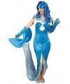 Blauw zeemeermin kostuum voor dames