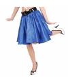 Blauwe fifties rok met petticoat voor dames