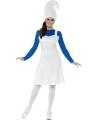 Blauwe kabouter kostuum voor dames