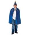Blauwe prins carnaval cape en hoed