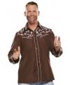 Bruine western blouse voor heren