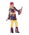 Dames disco outfit gekleurd