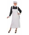 Dienstmeisje kostuum met mutsje