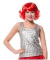 Disco top zilver voor dames