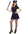 Donkerblauw politie jurkje voor dames