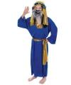 Drie koningen kostuum blauw voor kids