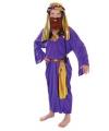 Drie koningen kostuum paars voor kids