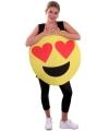 Emoticon kostuum hartjes ogen voor volwassenen