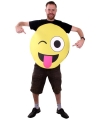 Emoticon kostuum knipoog voor volwassenen