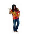 Fel gekleurd hippie overhemd voor heren