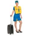 Funny stewardess kostuum voor dames