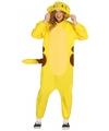 Geel chinchilla kostuum voor volwassenen