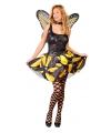 Geel vlinder kostuum voor dames