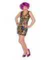 Gekleurd disco jurkje voor dames