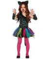Gekleurd luipaard jurkje voor meisjes