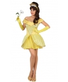 Gele prinsessen jurk voor dames