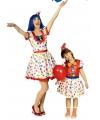 Gestipte clowns jurk voor dames