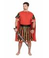 Gladiator kostuum rood voor heren