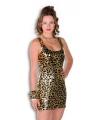 Gouden jurkje met panterprint
