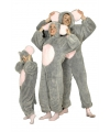 Grijze muis kostuum voor volwassenen