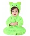 Groene kat dierenkostuum voor babys
