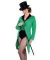 Groene lange slipjas voor dames