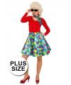Grote maat gekleurde rok voor dames