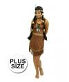 Grote maat indianen jurk prairie voor dames