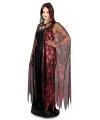 Halloween cape met rode spinnenweb print 130 cm