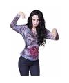 Halloween dames shirt met zombie ingewanden
