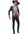 Halloween day of the dead el senor shirt met hoed