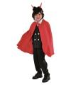 Halloween dracula cape kinderen rood