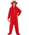 Halloween duivel onesie voor kinderen