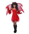 Halloween feest jurkje rood voor dames