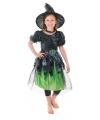 Halloween groen heksen jurkje meisjes
