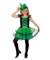 Halloween groen heksenjurkje voor meisjes