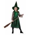 Halloween groene heksen jurk kinderen