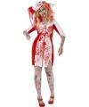 Halloween grote maten zombie zuster jurkje voor dames