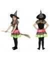 Halloween heksen jurk voor meisjes