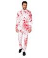 Halloween heren kostuum met bloedspatten