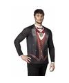 Halloween heren shirt met vampier opdruk
